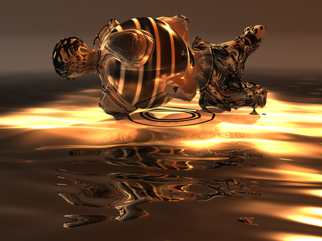 Reclining Torso in Amber by fractal3D