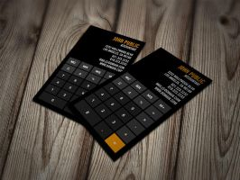 Accountant Calculator Business Cards by es32