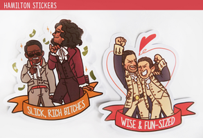 Hamilton Ribbon Stickers by RoorenSama