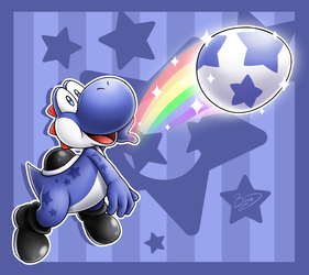 [Commission] Star Yoshi by Zieghost