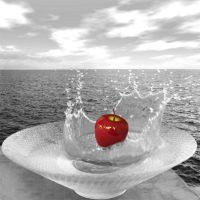 diving apple by Je-Nice