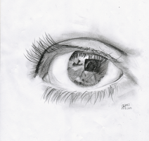 Eye sketch by chriscstick
