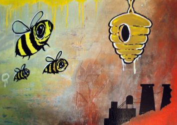 Bees in Heat by SAYLOR-ART