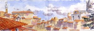 Tuscany on Moleskine 6 by andreuccettiart