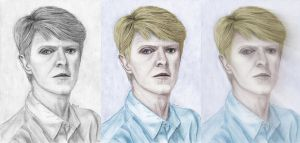 Bowie Triptych by PhilipHarvey