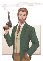 Warren Crowley - Commission colored by Nine-O-PoppyBox