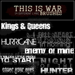 This is War brushes by craziigiirl