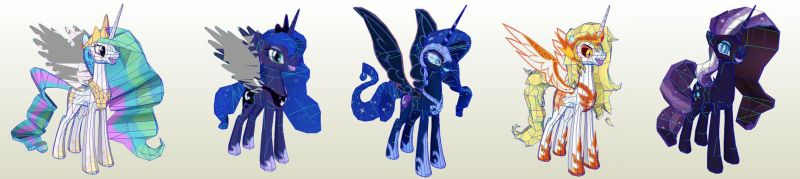 MLP The Royal Princesses by PapercraftKing