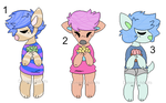 .:3/3 Open:. .:Colorful Doggo Adopts:. by Dynasty-Adopts
