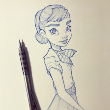 Audrey Hepburn by ChrissieZullo
