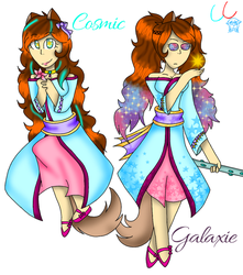 {Redraw} Cosmic and Galaxie! by ClaudieCarballo