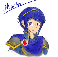 Fire Emblem - Marth by VatrewYonienOHNOES