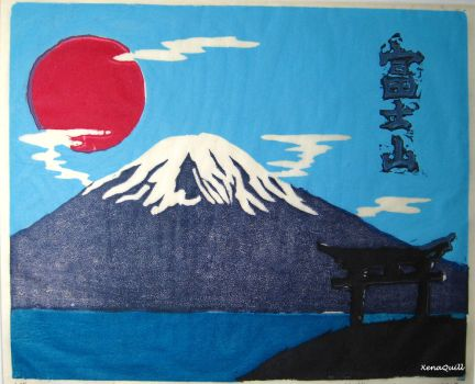 Mount Fuji by XenaQuill