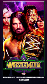 WrestleMania 34 WWE by roXx81