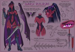 Dark Rilrae Character Design 2 by ladyofdragons