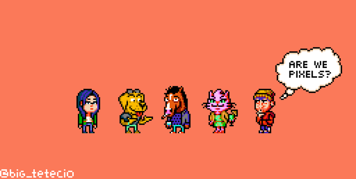 BoJack Horseman 8bits Fan Art. 10 Colors (each) by Teciozzz