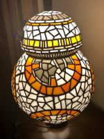 BB8 Stained Glass Lamp Side View by mclanesmemories