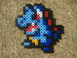 Perler: Totodile by PhishRitzy