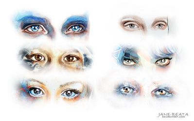 Watercolor eyes compilation I by jane-beata