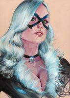BLACK CAT SKETCH by FredIanParis