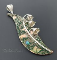Lily of the valley pendant by thebluekraken