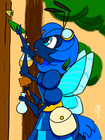 Bee at work by Dragonwolf6000