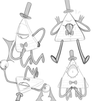UNFINISHED sketches of Bill by KingKenn
