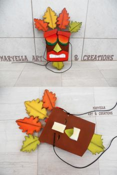 Aku Aku golden mask - wood replica 1:1 by MithriLady