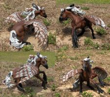 Breyer Nakota Hippogryph by tyreenya