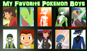 Favorite POKEMON Guys Meme by Aetherya