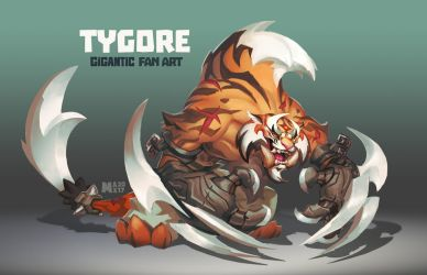 TYGORE - Gigantic Fan Art by suburbbum