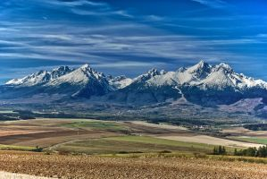 High Tatras from Kezmarok HDR by minko2312