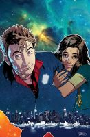 Tenth Doctor and Gabby Gonzales by elena-casagrande