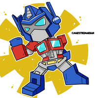 Chibi Optimus Prime by maestromakhan