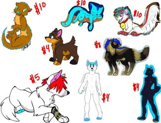Adoptables (character resale) by WikkTheFox