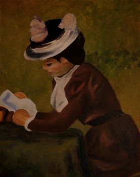 Woman Reading II by ariallure