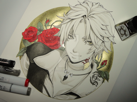 Inktober - Day 03 - Thancred Final Fantasy XIV by Bellpepper-art