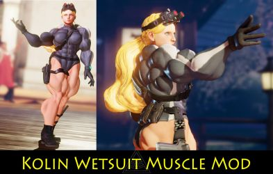 Kolin Wetsuit Muscle Mod Commission by Ripped-Pixels