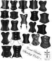 Corset Brushes Photoshop CS2 by TheoGothStock