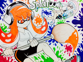 Splatoon Girls having fun! by Bridge-Moon