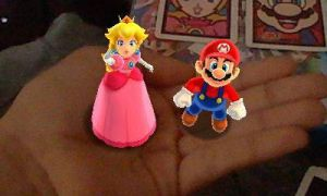 Mario and Peach on my hand by user15432