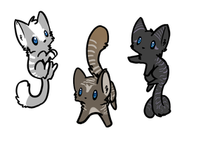 Kitten adopts Batch #3 - CLOSED by NoctaAdopts