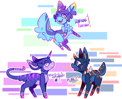 ( CLOSED ) Auctions - Tamashi Babies adopts ! by BluePandaaah
