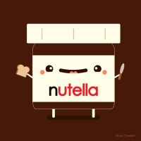Happy Nutella Guy by RoseyCheekes