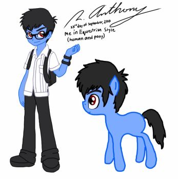 Me in Equestrian Human and Pony Style by roanalcorano