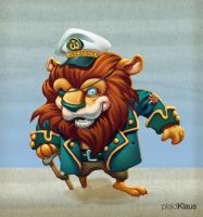 Pirate Lion Captain by plaidklaus