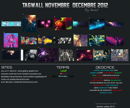 Tagwall Novembre/Decembre 2012 by Hashuut