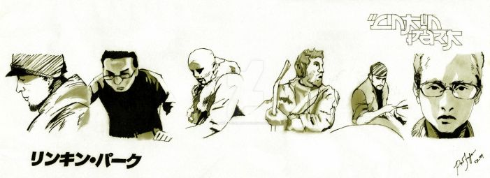 Linkin Park. by ThePissICallArt