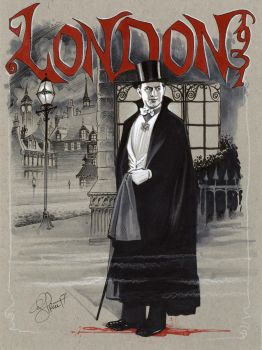 Dracula, London 1931 by andypriceart