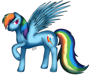 Rainbow Dash by SoultheDragonPony